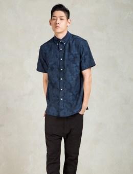 The Hillside Navy Jacquard Aloha S/S Shirt Picture