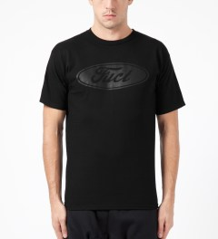 FUCT Black Back in Black T-Shirt Model Picture