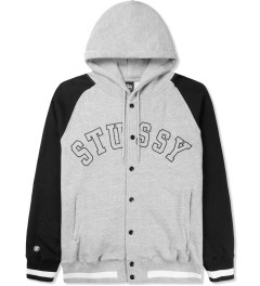 Stussy Heather Grey Sport Hood Jacket Picture
