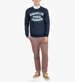 BWGH Navy/Blue Brooklyn Parle FR1 Sweater Model Picutre