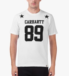 Carhartt WORK IN PROGRESS White/Black S/S Fan T-Shirt Model Picutre