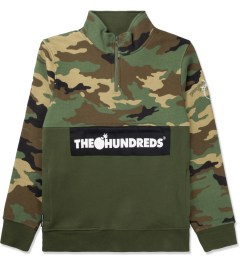 The Hundreds Camo Dime Half-zip Sweater Picutre