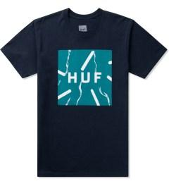 HUF Navy Smokes Box Logo S/S T-Shirt Picture