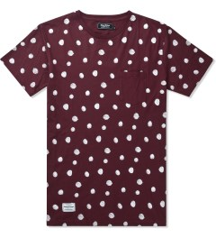 Grand Scheme Burgundy Scribble Dot T-Shirt Picutre