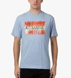 Billionaire Boys Club Heather Dusk Blue S/S 3D Straight Logo T-Shirt Model Picture