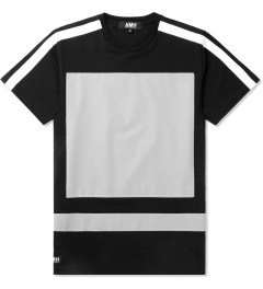 AMH Black Reflective Block Panel T-Shirt Picture