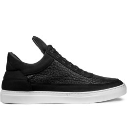 Filling Pieces Black Natural Grain Low Top Sneakers Picture