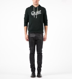 The Quiet Life Black Script Pullover Hoodie Model Picture