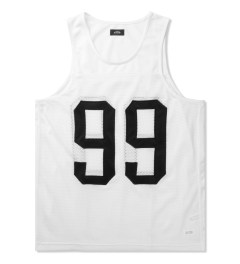 Stampd White 99 Tank Jersey Picutre