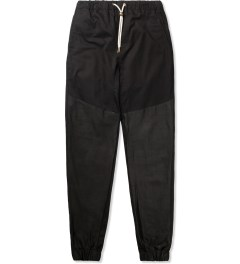 ZANEROBE Black Leather Track Sureshot Pants Picutre