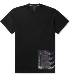 Uppercut Black Coated Spikes Zip Pocket T-Shirt Picture