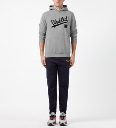 Undefeated Heather Grey UNDFTD Script Hoodie Model Picture