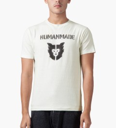 Human Made White Logo T-Shirt Model Picture