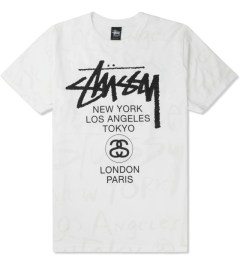 Stussy White World Tour Scribble T-Shirt Picture