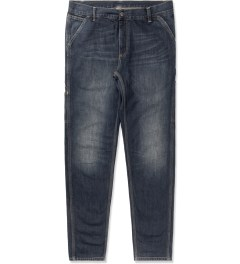 Carhartt WORK IN PROGRESS Blue Revolt Washed Lincoln Single Knee Pants Picture