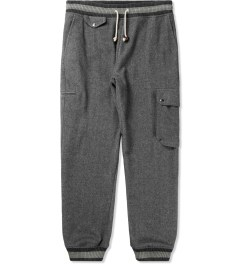 Band of Outsiders Grey Brushed Herringbone Cargo Sweatpants Picture