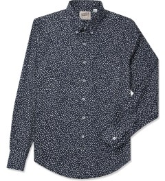 Naked & Famous Navy British Flowers Regular Shirt Picture