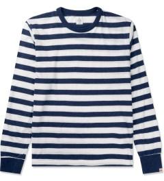 Head Porter Plus Navy Border L/S T-Shirt Picutre