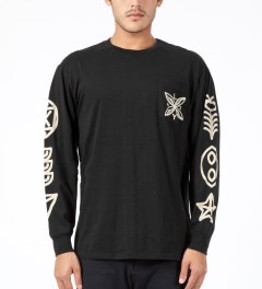 Lazy Oaf Black Zombie L/S T-Shirt Model Picture