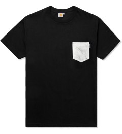 Carhartt WORK IN PROGRESS Black/Marble S/S Olson Pocket T-Shirt Picutre