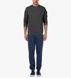 Marshall Artist Navy Melange Classic Sweatpants Model Picutre