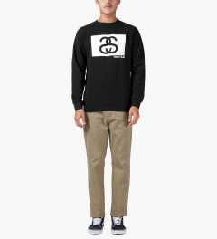 Stussy Black S/S Tribe Box Crew Sweater Model Picture