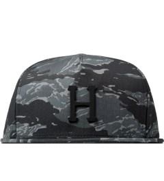 HUF Black Tiger Camo Metal H Snapback Cap Picutre