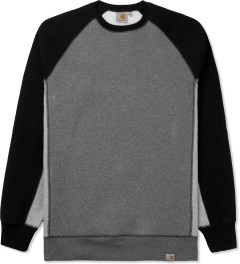 Carhartt WORK IN PROGRESS Dark Heather Grey/Black Mack Sweater Picutre