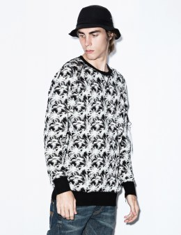 STAMPD Palm Jacquard Flight Crewneck Picture