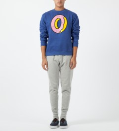 Odd Future Blue Single Donut Crewneck Sweater Model Picture