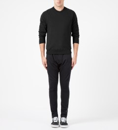 Surface to Air Black Assen Crewneck Sweater Model Picture