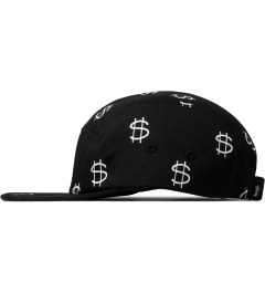 Stussy Black Money Camp Cap Model Picutre