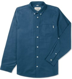 Carhartt WORK IN PROGRESS Monsoon Rinsed  L/S Buck Shirt Picutre