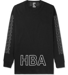 Hood By Air. Black Layered Logo L/S T-Shirt Picture