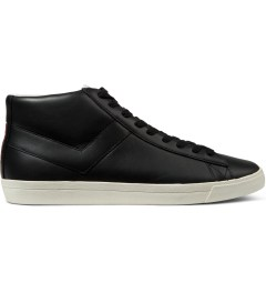 PONY Black/Black Perf Topstar Hi Leather Sneakers Picutre
