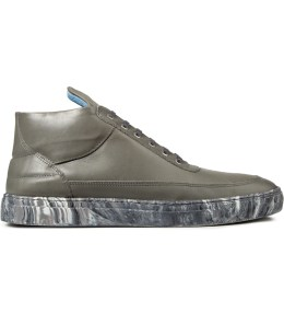 Filling Pieces Grey/Marbleized  Mid Top Sneakers Picture