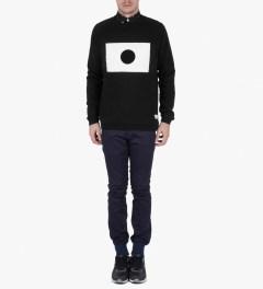 Libertine-Libertine Black/White Grill Moon Sweatshirt Model Picture