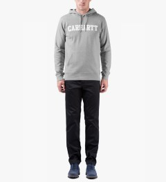 Carhartt WORK IN PROGRESS Heather Grey/White College Sweat Hoodie Model Picutre