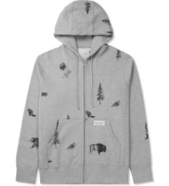 Raised by Wolves Heather Grey Trap Life Zip-Up Hoodie Picture