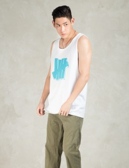 UNDEFEATED White Strike Block Tank Top Picture