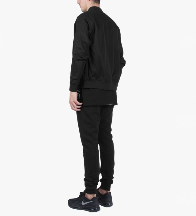 Black Dugout Bomber Jacket