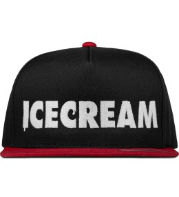 ICECREAM Black/Red Cone & Spoon Snapback Cap Picture