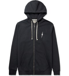 Lightning Bolt Moonless Night Forever Triblend Fleece Zip Hoodie Picutre