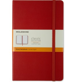 MOLESKINE Red Hard Cover Ruled Large Notebook Picture