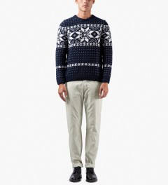 A.P.C. Dark Navy Yeti Snow Pullover Sweater Model Picture