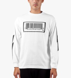 Rare Panther White RP Barcode L/S T-Shirt Model Picture