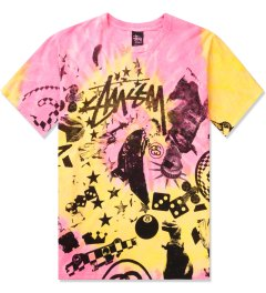Stussy Pink Classic College Tie-dye T-Shirt Picutre