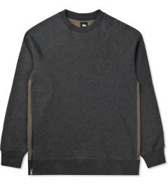 Stussy Heather Black Lux Fleece Crew Sweater Picutre