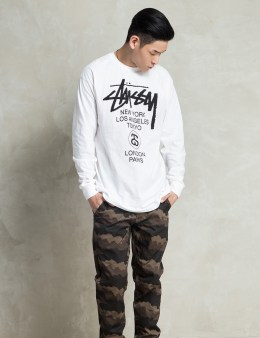 Stussy White LS World Tour T-Shirt Picture