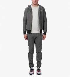 Marshall Artist Light Grey Melange Stealth Sweater Model Picutre